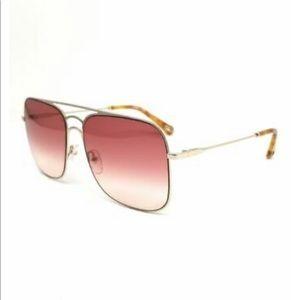 NWT [Chloe] CE140 Gold & Wine Sunglasses w Case